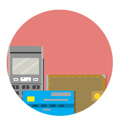 Electronic money icon vector