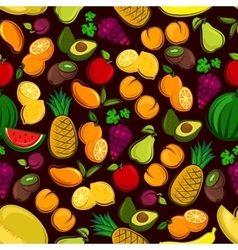 Fruits seamless pattern background vector image