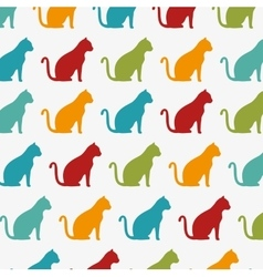 Funny cats wallpaper color design graphic vector