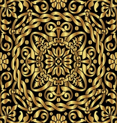 gold asian ornament vector image