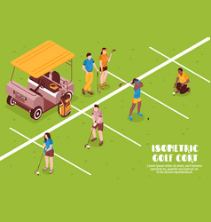 golf cort vector image vector image