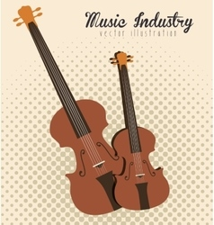 Guitar and violin isolated icon design vector