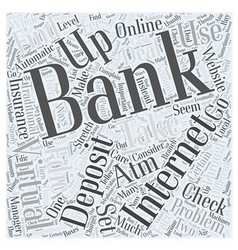 Internet banking with virtual banks word cloud vector