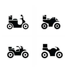 Motorcycle and transport icons vector