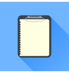 note icon with long shadow vector image