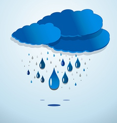 Rainy clouds vector image