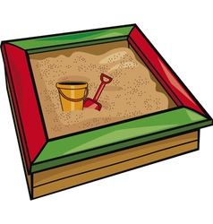Sandbox with toys cartoon vector