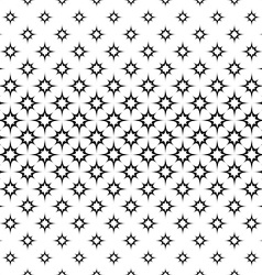 Seamless monochrome octagram star pattern vector image vector image