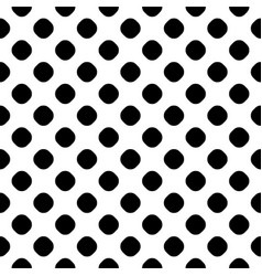 seamless pattern black and white dotted texture vector image
