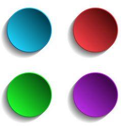 Set of Colorful Circle vector image