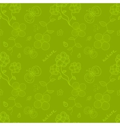 Spring time seamless pattern vector image vector image
