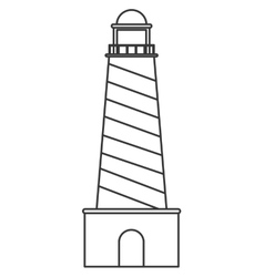 Striped lighthouse icon vector