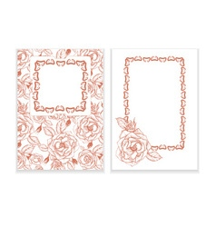 Template for invitation with roses vector image vector image