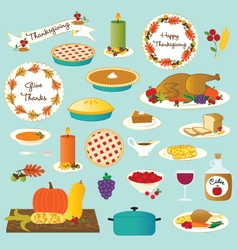 Thanksgiving food vector