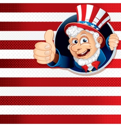 uncle sam for independence day vector image vector image