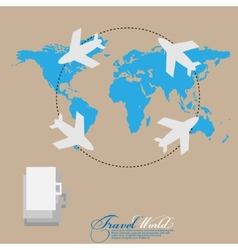 World travel Tourism concept imageHolidays and vector image vector image