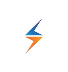 - lightning icon logo and symbols vector
