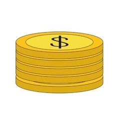 Coin money financial item vector