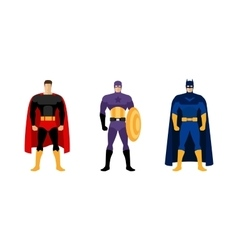 Superhero costumes isolated set vector
