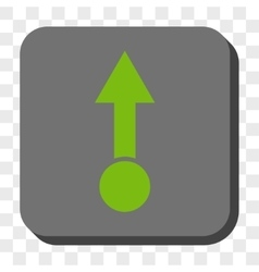Pull up rounded square button vector