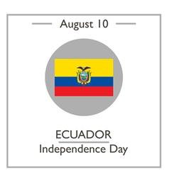 Ecuador independence day vector