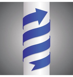 Arrow on pillar vector