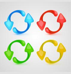 icon refresh color set vector image