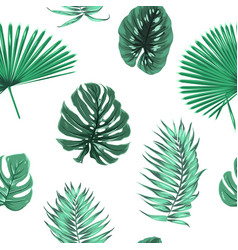 exot tropical green leaves seamless pattern float vector image