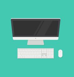 Computer top view vector