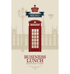 British business lunches vector image