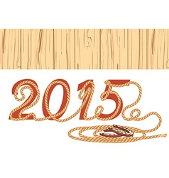 cowboy lasso 2015 year vector image