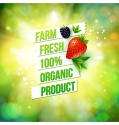Guaranteed farm fresh organic product vector