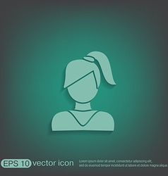 A female avatar girl with hair tail avatar of a vector