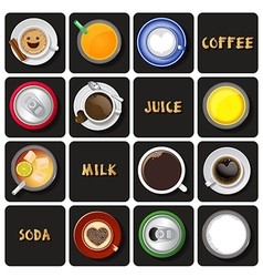 Beverage collection vector