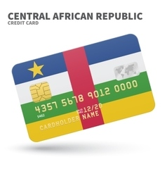 Credit card with central african republic flag vector