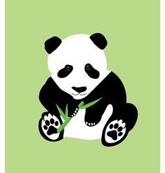 Bamboo panda green vector