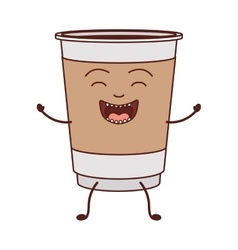 Animated disposable recipiente for hot drinks vector