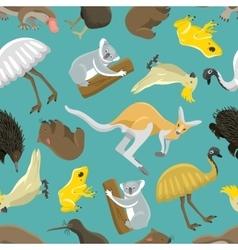 Australian seamless pattern vector image