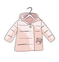 Baby coat girl sketch for your design vector image vector image