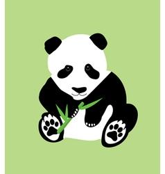Bamboo panda green vector