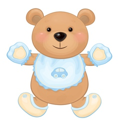 Bear baby boy vector