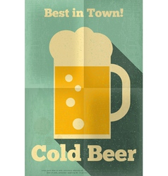 Beer poster single vector