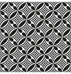 Black and white abstract seamless pattern vector image