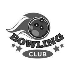 bowling club promotional monochrome emblem with vector image vector image