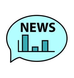 breaking news online announcement message line vector image