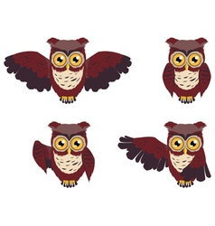 Brown wise owl vector