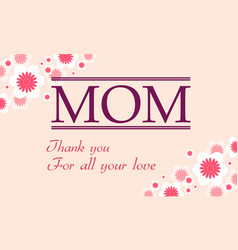Collection of mother day cute style background vector