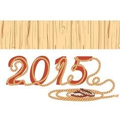 Cowboy lasso 2015 year vector