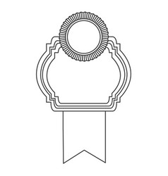 figure emblem with symbols inside icon vector image