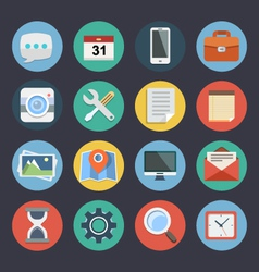 Flat icons for web and applications set 1 vector